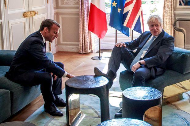 Boris Johnson reçu à l'Elysée, le 22 août.