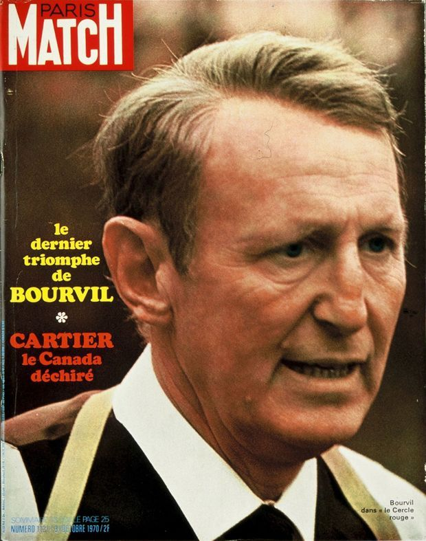 Bourvil en couverture du Paris Match n°1121, 31 octobre 1970
