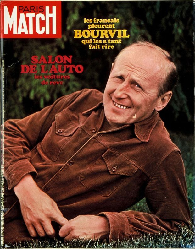 La mort de Bourvil en couverture de Paris Match n°1117, 3 octobre 1970