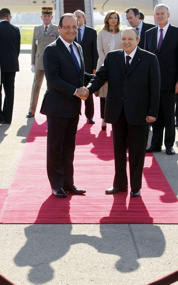 Bouteflika Hollande Aéroport Alger-