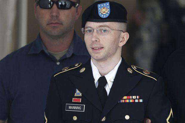 Chelsea Manning, qui se faisait encore appeler Bradley, en juillet 2013.