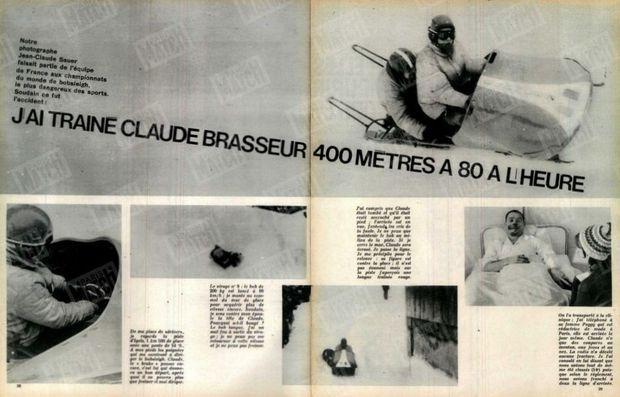 « J'ai trainé Claude Brasseur 400 mètres à 80 à l'heure » - Paris Match n°722, 9 février 1963