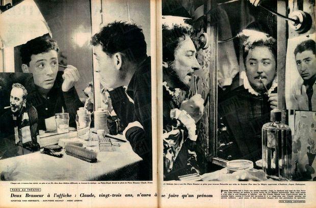 « Deux Brasseur à l'affiche : Claude, vingt-trois ans, n'aura à se faire qu'un prénom » - Paris Match n°444, 12 octobre 1957.