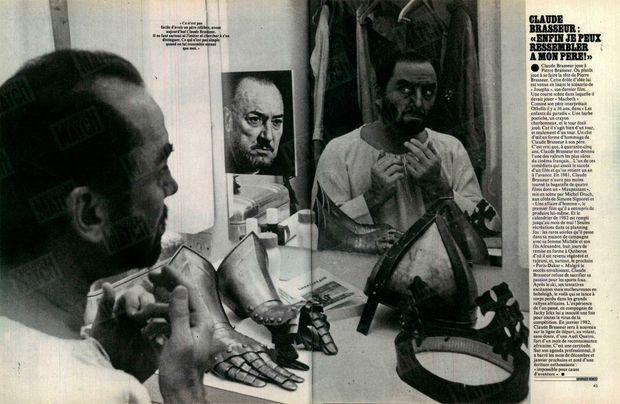 « Claude Brasseur : 'Enfin je peux ressembler à mon père !' » - Paris Match n°1686, 18 septembre 1981.
