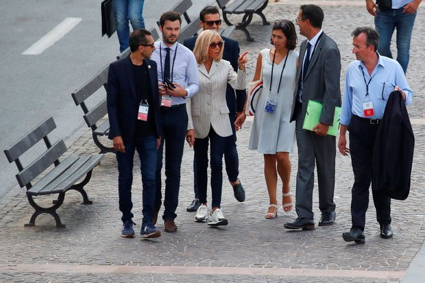 Brigitte Macron à Biarritz, samedi après-midi.