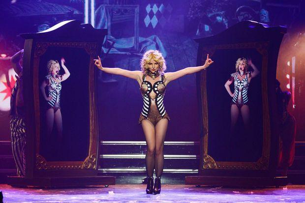 """Britney Spears le jour de sa première représentation de """"Piece of me"""" en décembre 2013"""