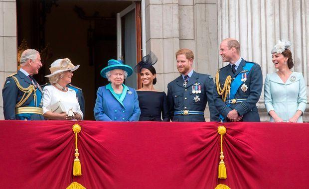 La famille royale au balcon de Buckingham pour les 100 de la Royal Air Force, le 10 juillet 2018.