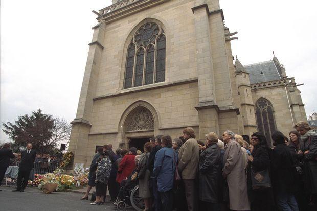 Les obsèques du chanteur C. Jérôme, le 17 mars 2000.
