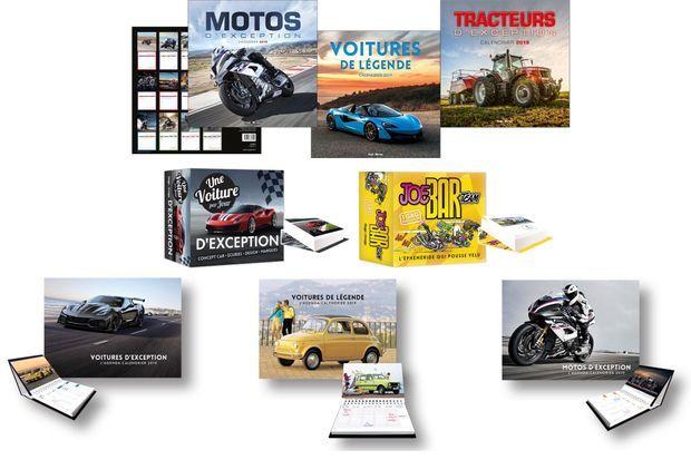Les agendas, calendriers et éphémérides de la collection Hugo Motors de Hugo&Cie.