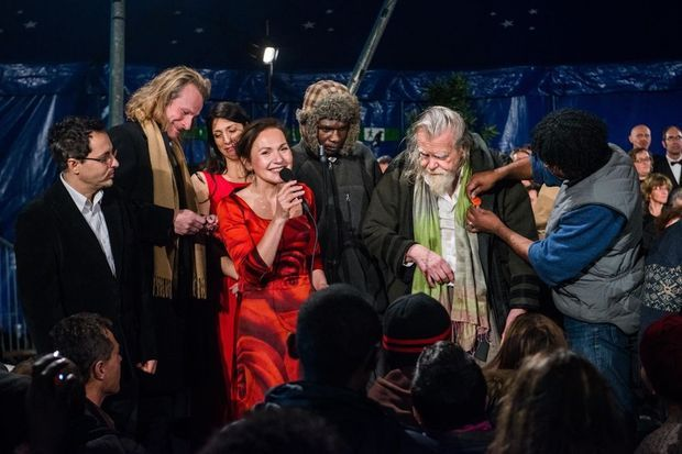 La troupe de « Jubileo » en communion avec ce public d'un soir.