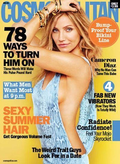 Cameron Diaz en couv de Cosmopolitan US-