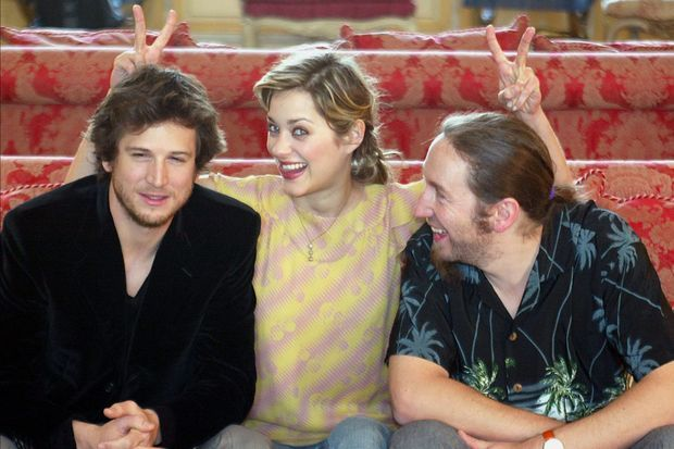 Guillaume Canet, Marion Cotillard, Yann Samuell, en mars 2004 à Londres.