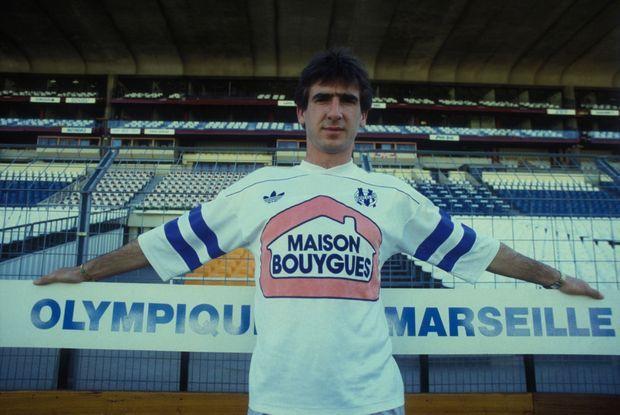 Eric Cantona au stade Vélodrome de Marseille, en août 1988.