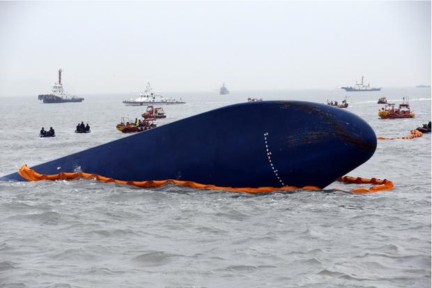 La coque du ferry «Sewol», qui a coulé le 16 avril dernier.