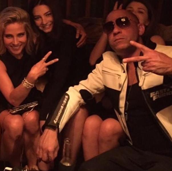 """Meadow aux côtés d'Elsa Pataky et de Vin Diesel pour la première de """"Fast & Furious 7"""""""