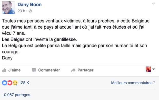 Message de Dany Boon