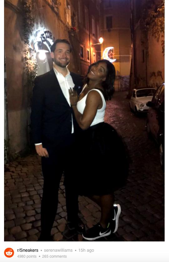Serena Williams et Alexis Ohanian à Venise.