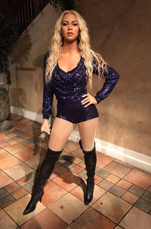 La statue de cire de Beyoncé au musée Madame Tussaud de New-York, aux Etats-Unis.
