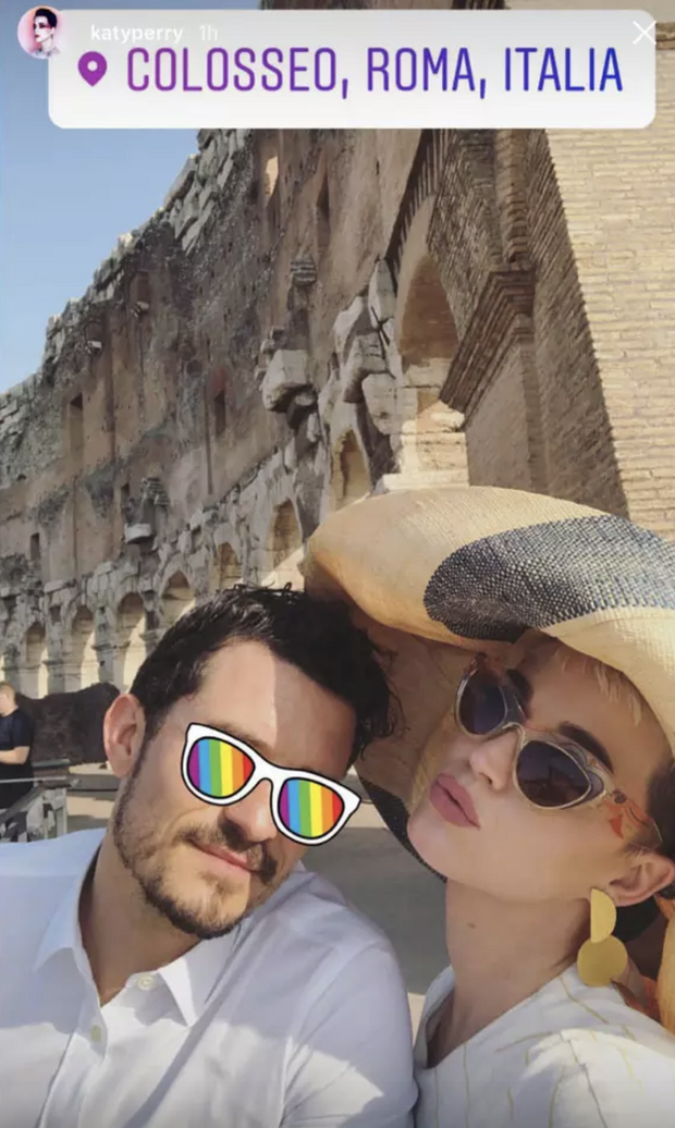 Katy Perry et Orlando Bloom à Rome