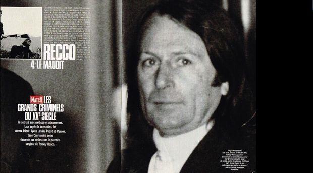 Le sujet qu'avait consacré Paris Match à l'affaire Recco où il côtoyait d'autres « ténors » du crime : Landru, Petiot et Charles Manson.