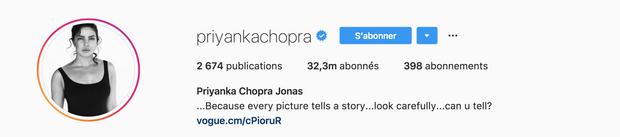 Instagram de Priyanka Chopra