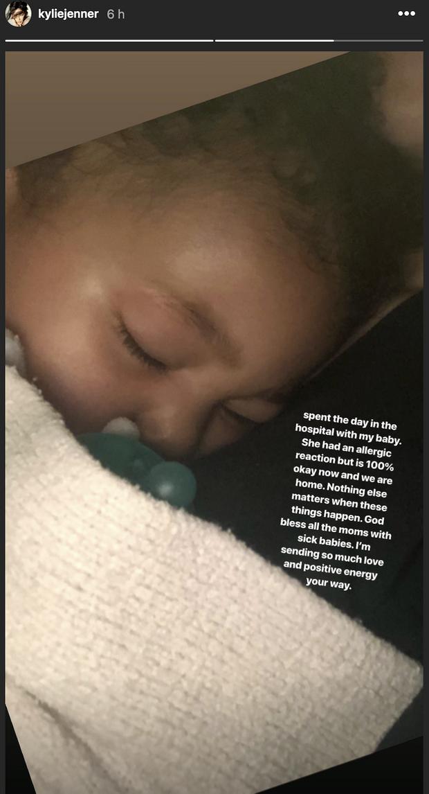 Kylie Jenner a révélé que sa fille Stormi a été hospitalisée le 2 juin 2019