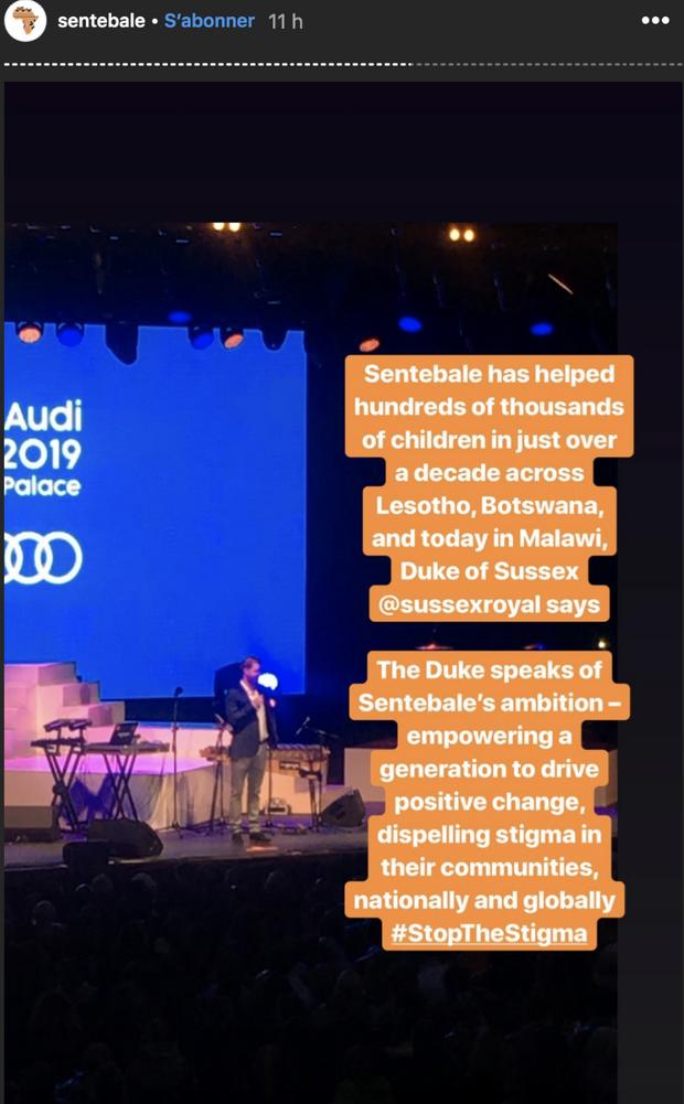 Le prince Harry s'exprime lors du concert caritatif de son association Sentebale à Londres le 11 juin 2019