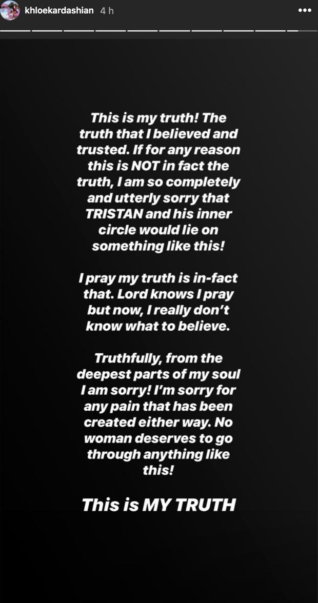 Khloé Kardashian évoque son ex Tristan Thompson, le 11 juin 2019