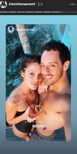 Iris Mittenaere et son chéri Diego El Glaoui en voyage à La Réunion, décembre 2019.