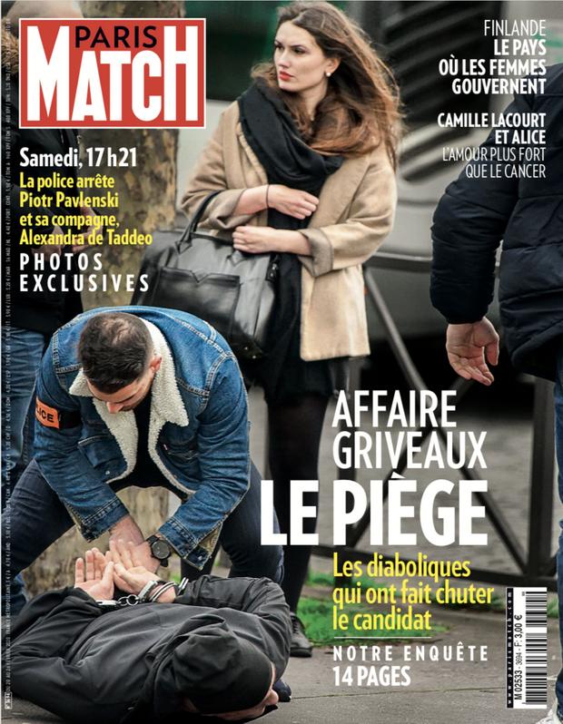 La couverture du numéro 3694 de Paris Match