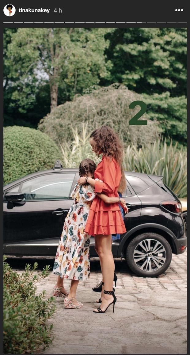 Deva et Léonie le jour du mariage de Tina et Vincent Cassel le 24 août 2018