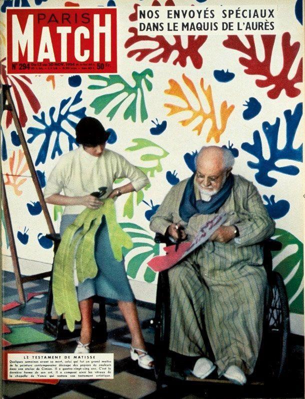 Novembre 1954. Henri Matisse meurt à 84 ans et fait la couverture de Match.