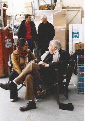 """En 2002, sur le tournage de """"Père et fils"""" de Michel Boujenah. Derrière, Pascal Elbé. """"J'adorais me retrouver avec mon grand-père sur le même plateau."""""""