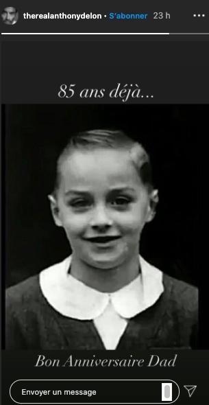 Anthony Delon fête l'anniversaire de son père le 8 novembre 2020