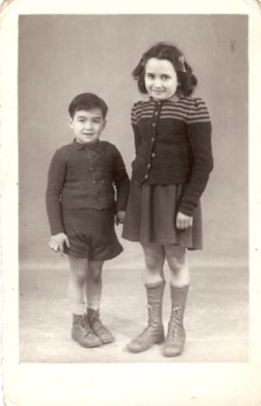 Jean-Claude et Denise à Sainte Jeanne d'Arc en 1943 et 1944.