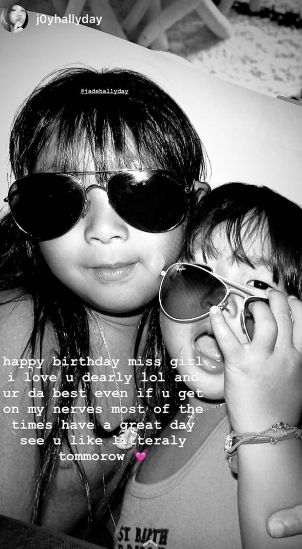 Joy souhaite un joyeux anniversaire à Jade sur Instagram le 3 août 2021