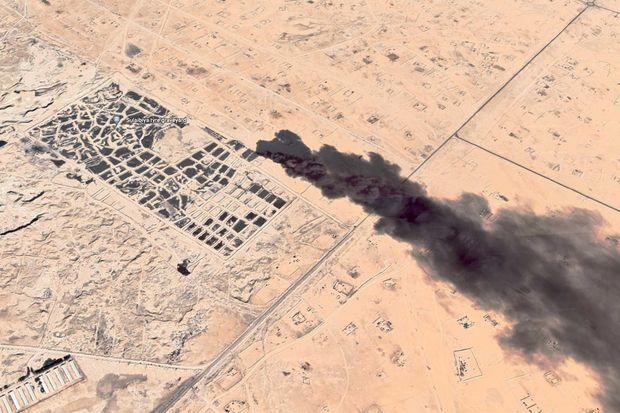 La décharge de Sulaibiya, au Koweit, photographiée depuis l'espace.