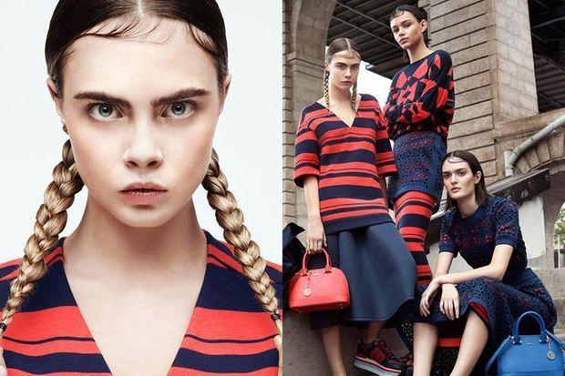 Cara Delevingne prend la pose pour la campagne printemps-été 2015