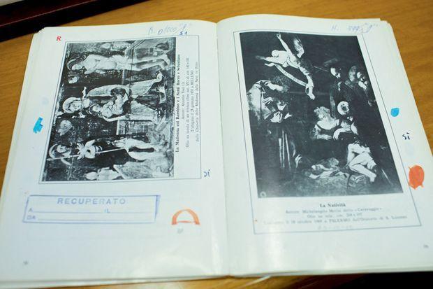Recenser les trésors présents... et manquants L'avis de recherche publié dans le bulletin des carabiniers.