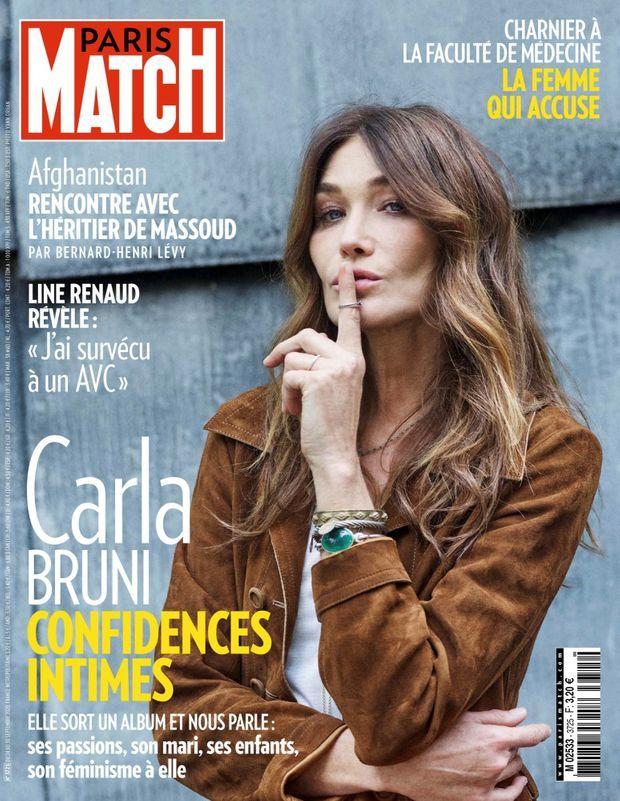 Carla Bruni en couverture de Paris Match n°3725, daté du 24 septembre 2020