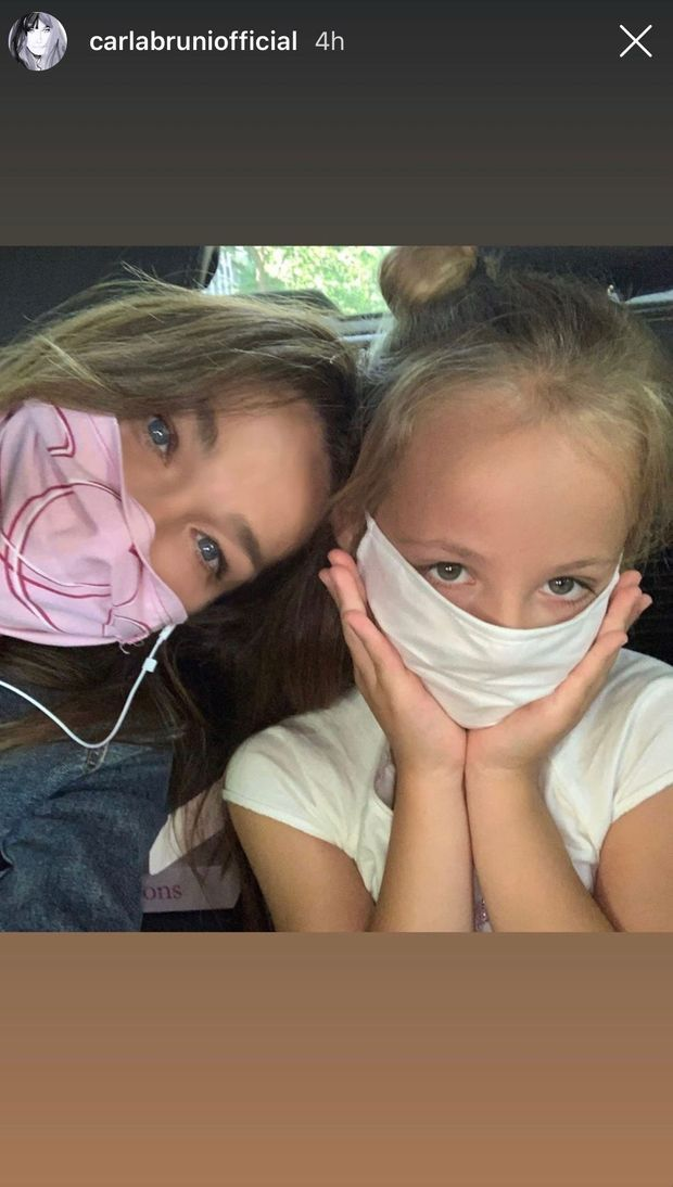 Carla Bruni Partage D Adorables Selfies Avec Sa Fille Giulia
