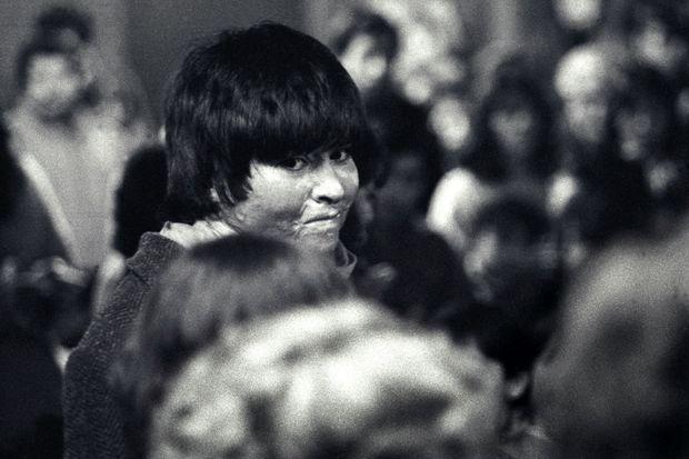 Carmen à Santiago, en 1987. Elle a alors 19 ans.