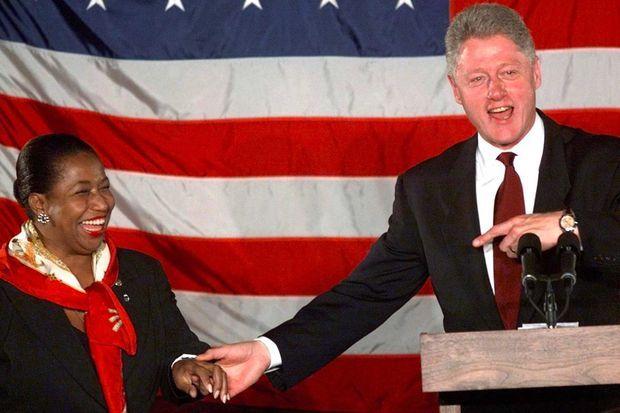 Carol Moseley Braun et Bill Clinton, en octobre 1998.
