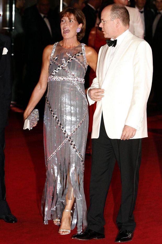 La princesse Caroline de Hanovre avec le prince Albert II de Monaco, le 27 juillet 2007