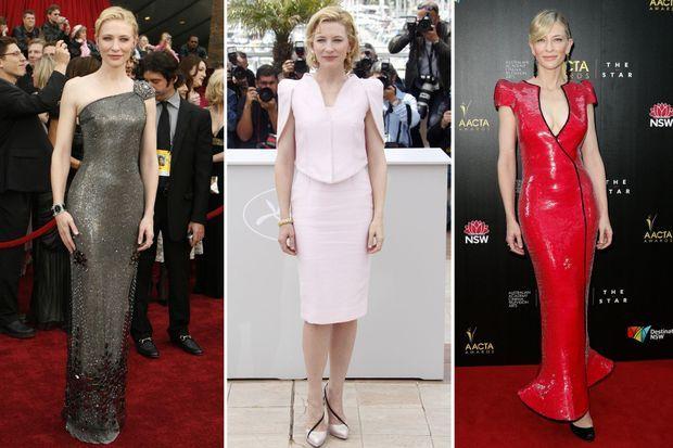 L'actrice en Giorgio Armani: aux Oscars en 2007, au Festival de Cannes en 2010 et aux AACTA Awards en 2013.