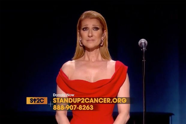 "Céline Dion chante pour ""Stand Up To Cancer"""