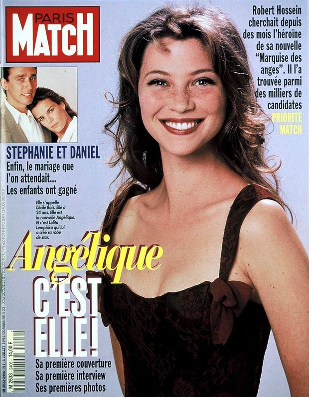 Cécile Bois en couverture de Paris Match n°2420, daté du 12 octobre 1995.