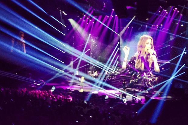 Céline Dion en concert à Bercy en novembre 2013