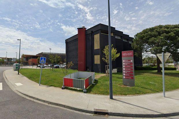 Vue du complexe sportif de Capitany, à Colomiers, où est installé le centre de consultations Covid-19.