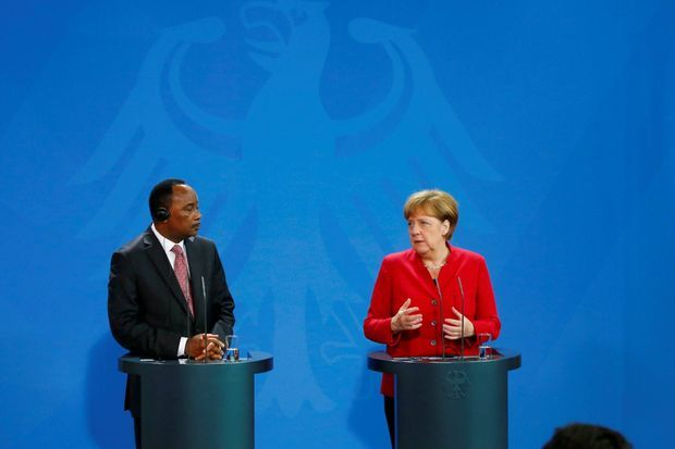 German Chancellor Merkel and Nigerien President Issoufou in Berlin on June 17th 2016